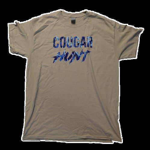 Cougar Hunt (nude/blue) T-Shirt
