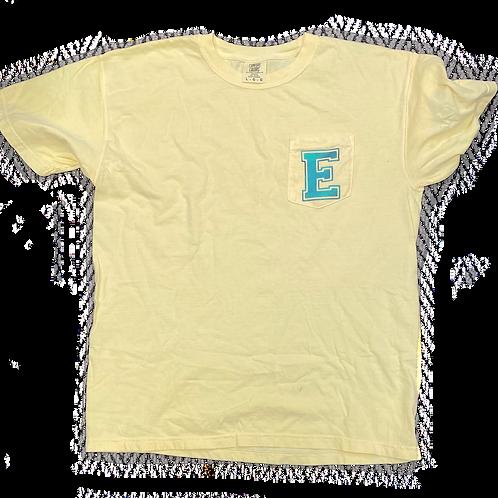 "Yellow ""E"" Pocket T-Shirt"