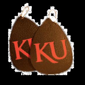 Red KU Earrings