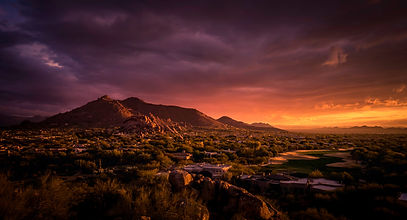 Stormy Phoenix sunset. Stock photo ID:502839904 Credit:BCFC