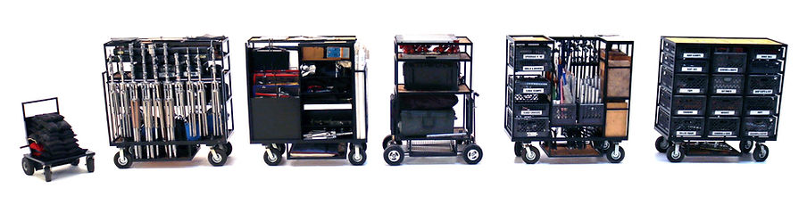 Complete Grip and Lighting Package carts for rent in Los Angeles
