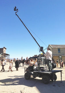 Jimmy Jib mounted on rtv900 Kubota grip rig.