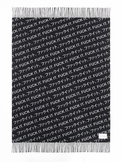 "Blanket - ""Fuck It"" - 180cm x 140cm - (Base price: 91 €/m²)"