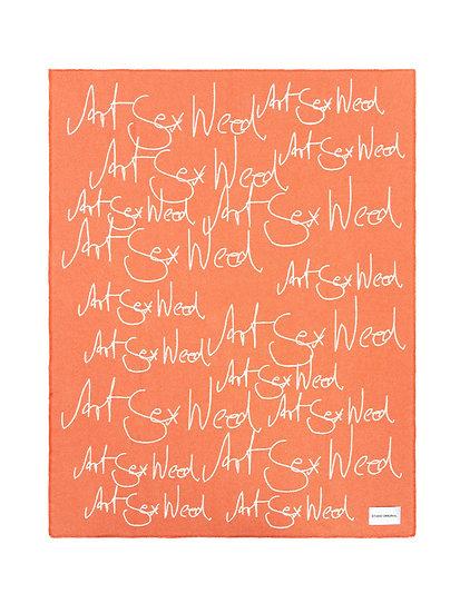 "Blanket - ""Art Sex Weed"" - 180cm x 140cm - (Base price: 63 €/m²)"