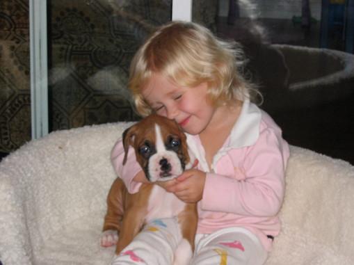 2 year old Savannah and pup