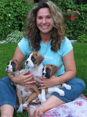 Michelle loves puppies