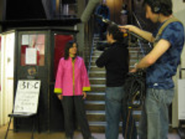 BBC Scotland interviews Leni Schwendinger at the Mack