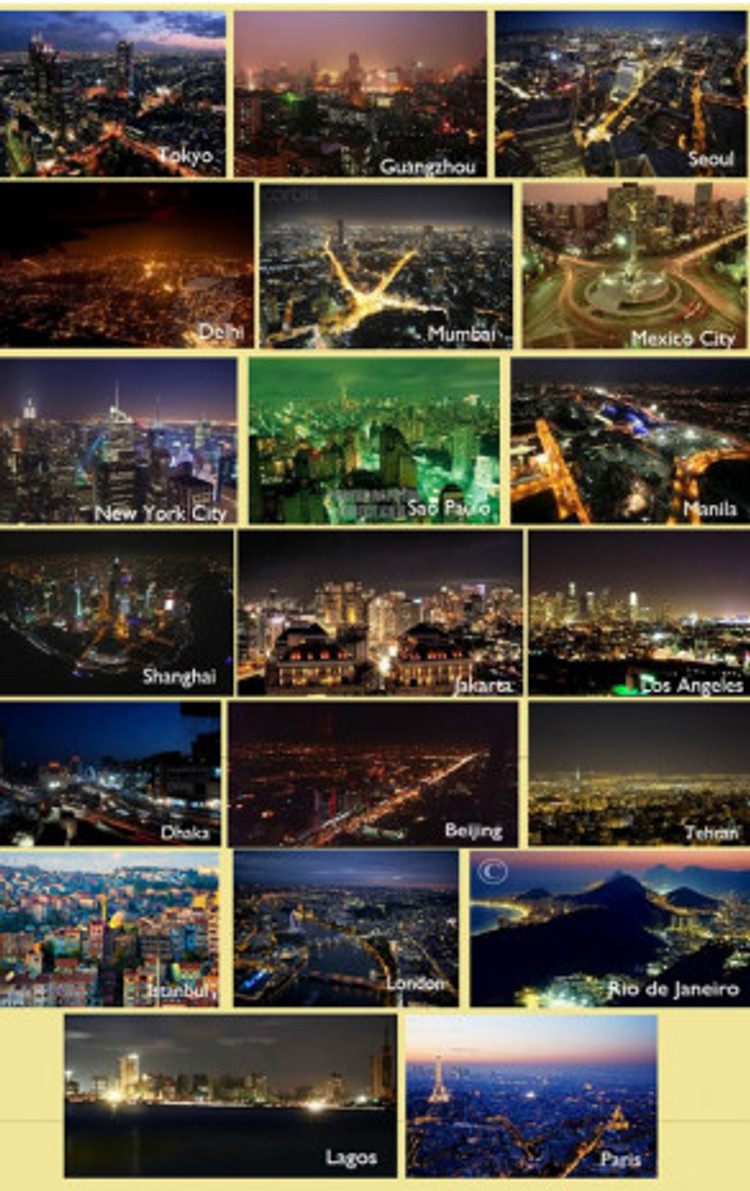 NightSeeing: Mega-Cities