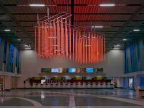 """A Spatial Portrait"" sculpture commission unveiled 2/13/09: thousands of diodes create a"