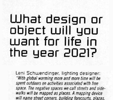 Envisioning the future of public space illumination – Looking back at looking forward, part on