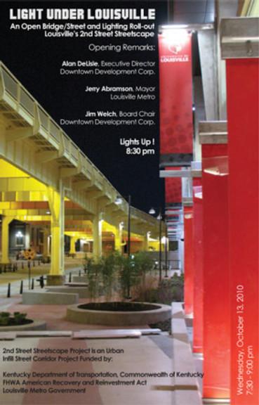 Light Projects' Illuminationo of Louisville 2nd Street Bridge and Streetscape