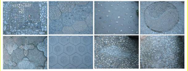 An infinate variety of handmade paving patterns