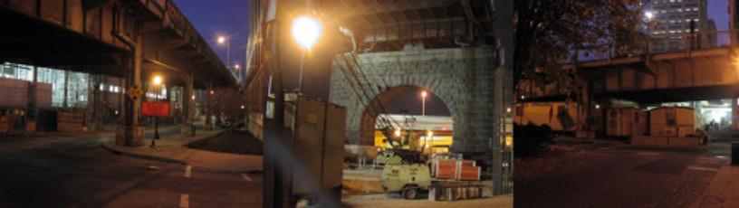 Light Projects LTD Illumination Louisville 2nd Street bridge before images
