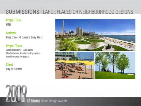 HTO Park, in Toronto, submitted for 2009 Toronto Urban Design Award
