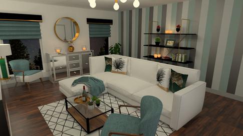Living Room Night Render (Gold Package)