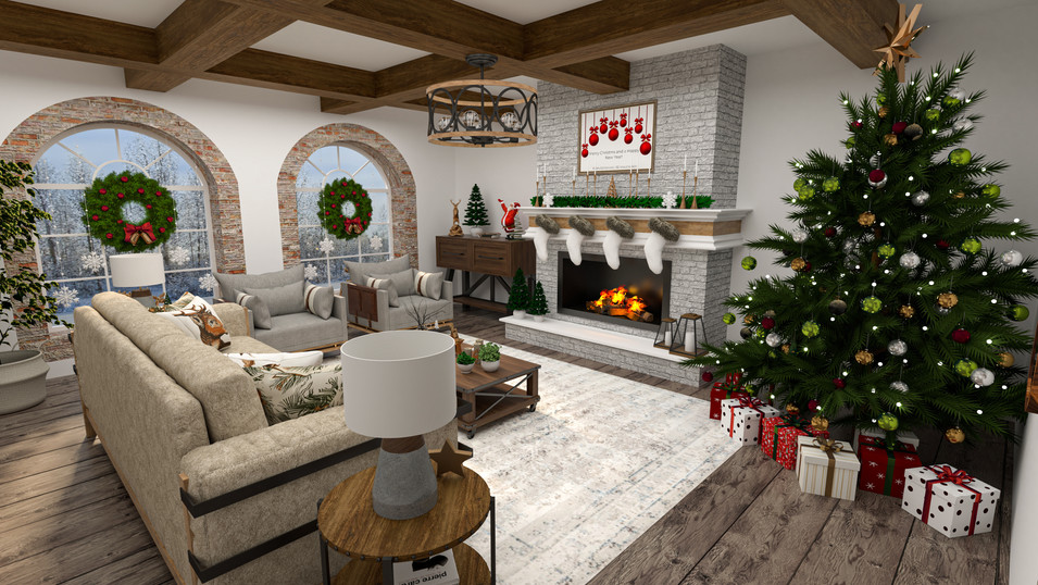 Christmas Living Room (Gold Package)
