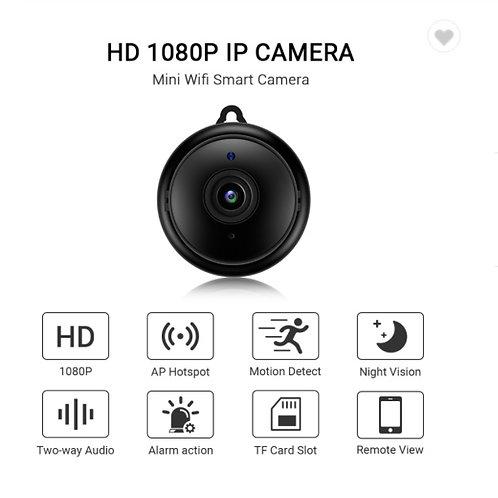 Mini Camêra inteligente c/audio, alarme de detenção de movimentos e visão noturn