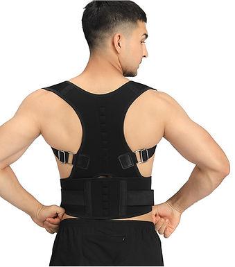Corrector de postura lombar ajustável de terapia magnética