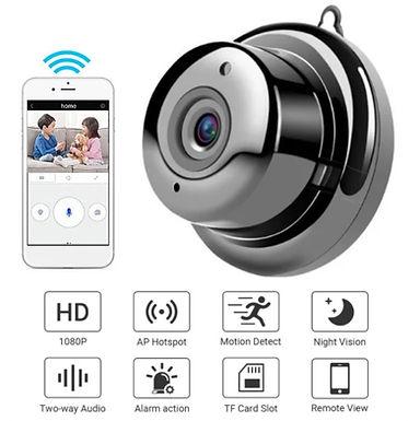 Mini Camêra inteligente wifi audio detenção de movimentos e visão noturna