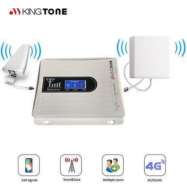 Repetidor de sinal telemóvel GSM 2G 3G 4G Triband 900 1800 2100mhz  LTE