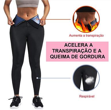 Colã de neoprene de cintura alta para fitnes e emagrecimento 3 linhas de fecho