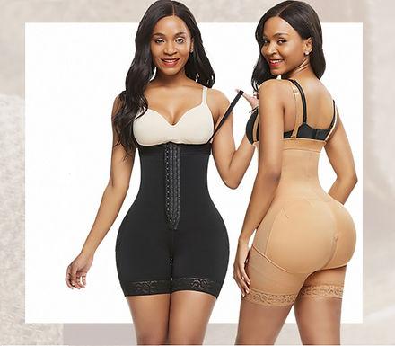 Cinta modeladora de cintura e bumbum - Preto