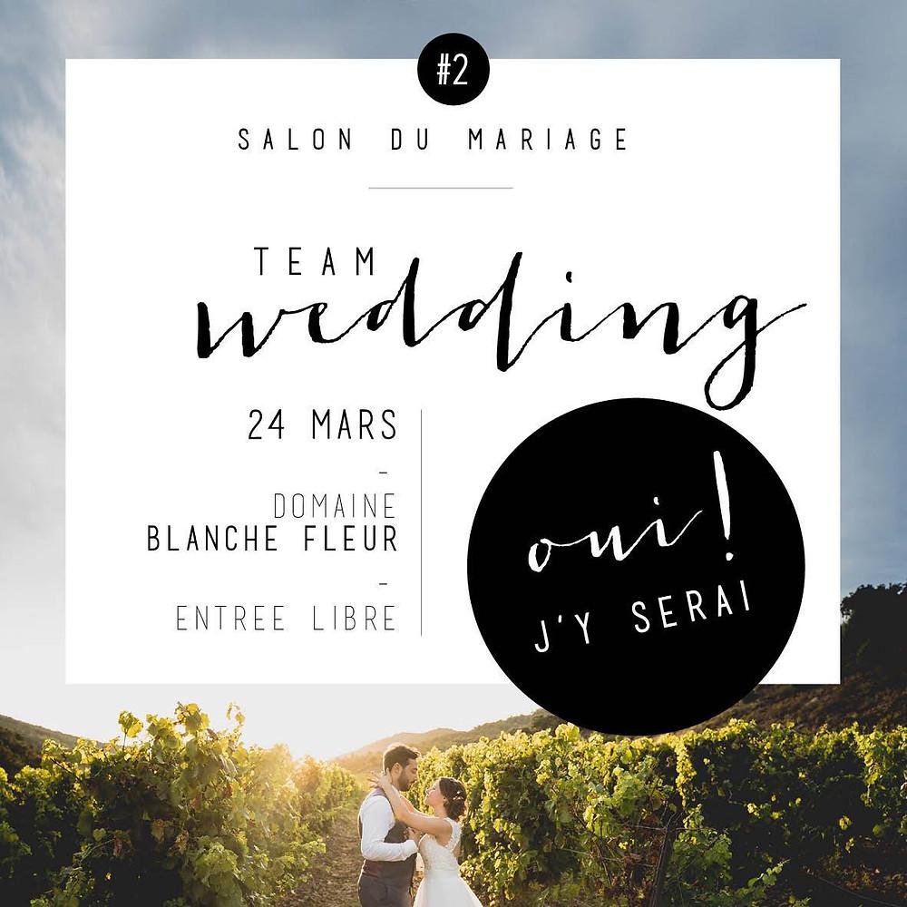 rdv le 24 mars 2019 au Domaine de Blanche Fleur. Plus d'infos www.teamweddingprovence.fr