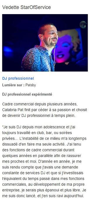 Patsby élu meilleur dj mariage en provence