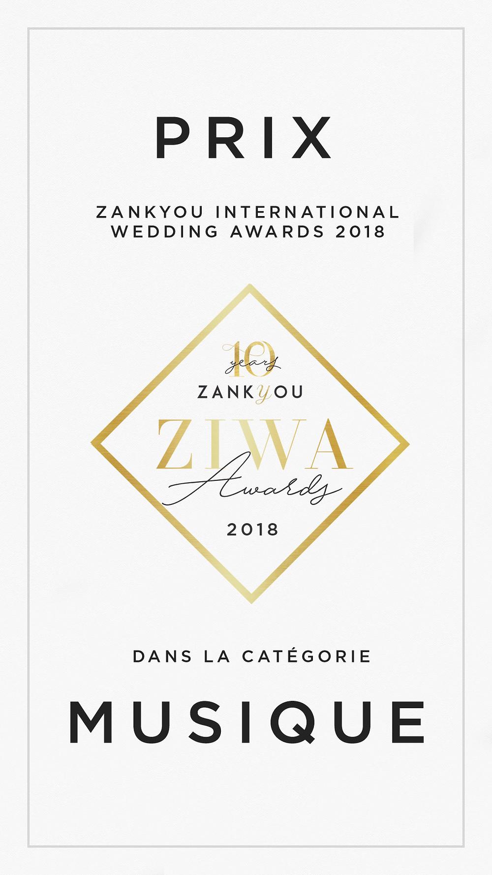 Après une saison riche en évènements haut de gamme, j'ai le plaisir d'être élu par Zankyou, parmis les meilleurs prestataires dj de France.