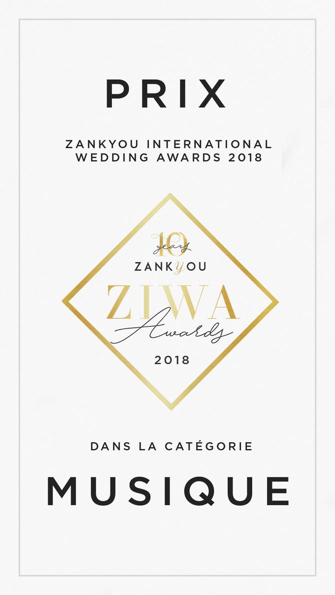 Patsby Lauréat du Zankyou Wedding Award