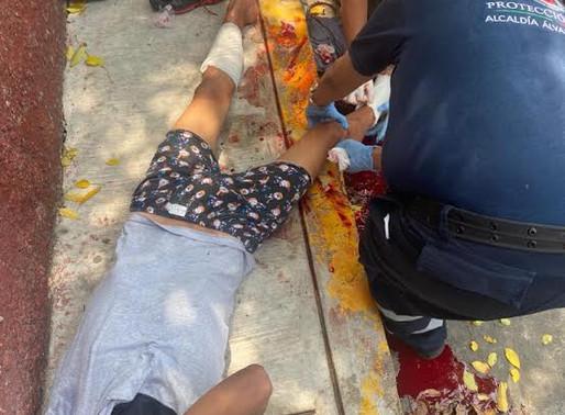 Policía enfrenta a tiros a expresidiario y lo manda al hospital