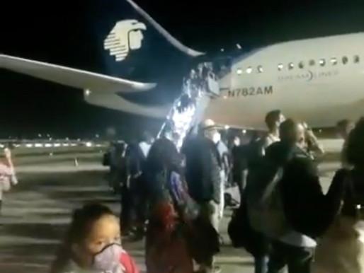 Avión de Aeroméxico aborta despegue en Cancún