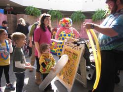 Purim carnival balloon man