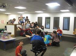 Kids in teen lounge