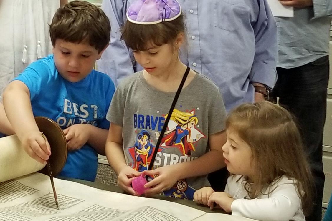 kids at the Torah