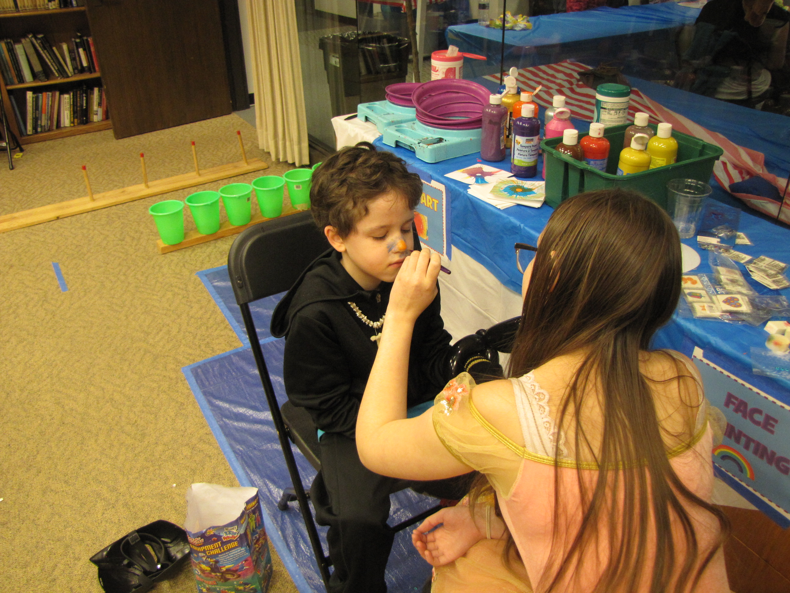 Purim face painting