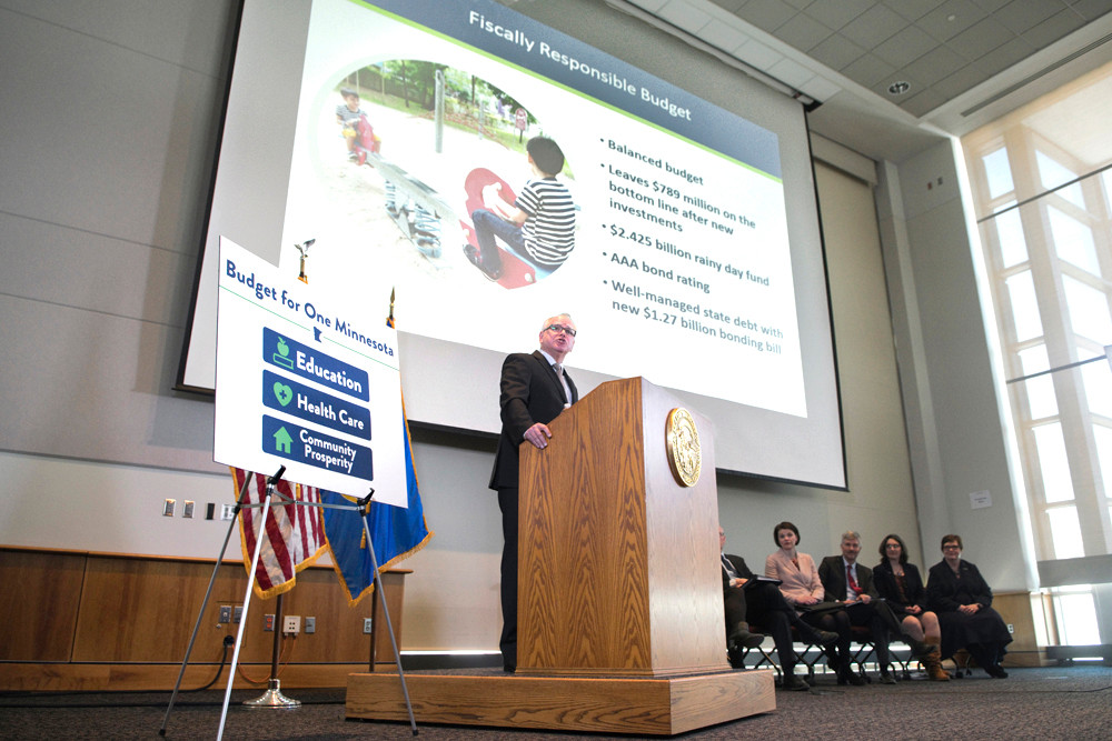 Gov. Tim Walz unveils his Budget for One Minnesota with a focus on making investments in education, health care and community prosperity.