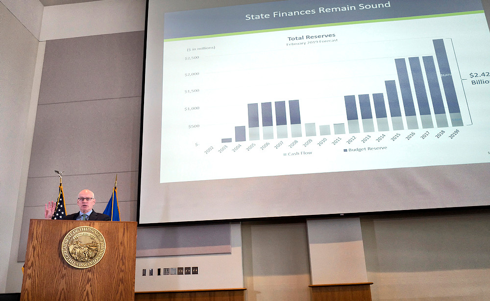 Management & Budget Commissioner Myron Frans presents the February Budget & Economic Forecast.