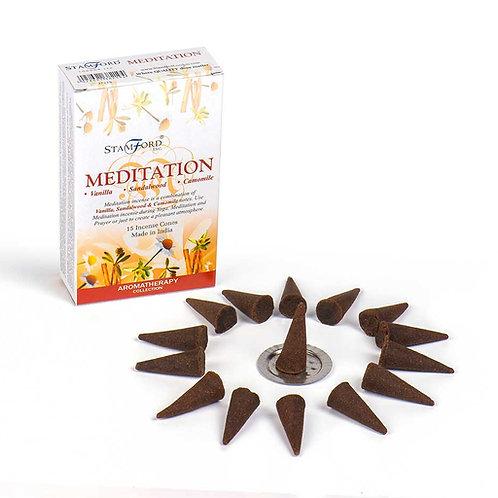 Meditation Incense Cones - Small