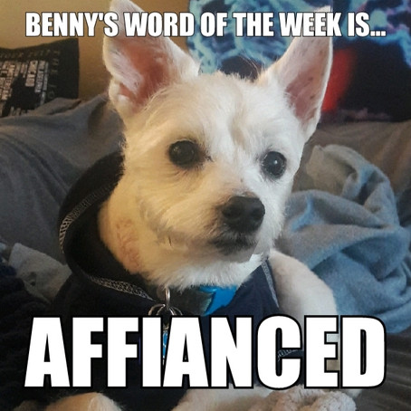 Benny's Word of the Week is affianced