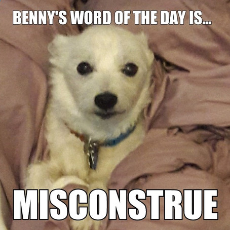 Benny's Word of the Day is...misconstrue