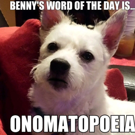 Benny's Word of the Day is... onomatopoeia