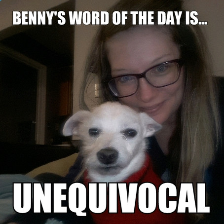 Benny's Word of the Day is unequivocal