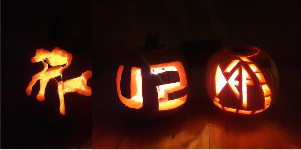U2 Joshua Tree and Def Leppard pumpkins for Halloween 2018
