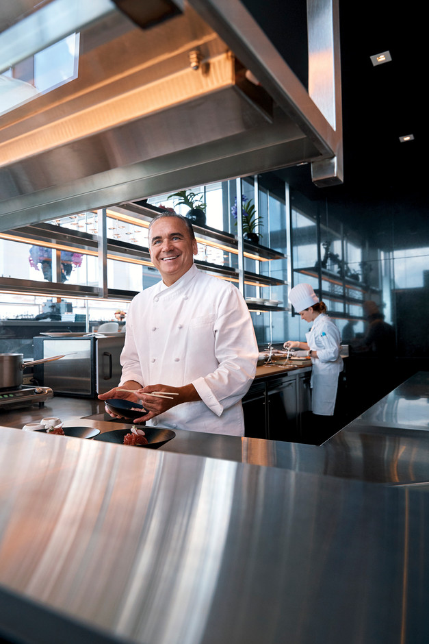 Chef Jean George for the Four Seasons Restaurant JG's Skyhigh
