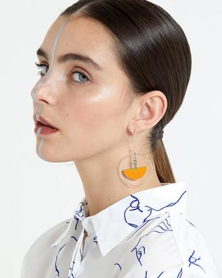 Hair + Makeup: Jessica Pineda / Photographer: Dylan Pierce / Stylist: Steph Iselin / Jewelry: Idol Light