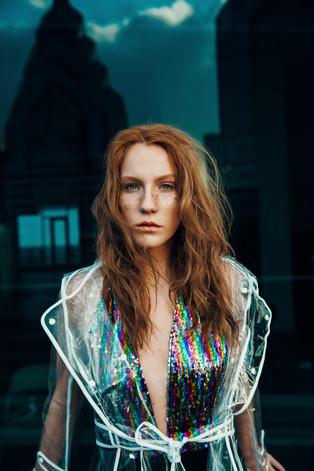 Hair + Makeup + Art Direction: Jessica Pineda/ Photographer: Justin Muir / Model: Kay Doyle / Wardrobe Styling: Susan Padron