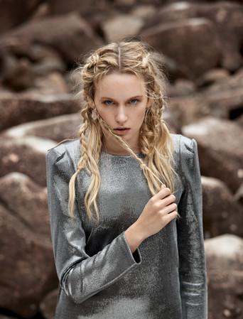 Hair + Makeup + Wardrobe Styling + Location + Art Direction: Jessica Pineda / Photographer: Jon Pushnik /
