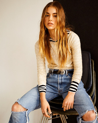 Hair + Makeup: Jessica Pineda / Photographer: Jon Stars / Model: Megan Sawey / Wardrobe Styling: Emily Newnam