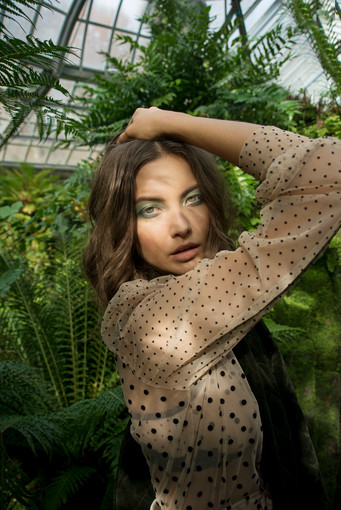 Hair + Makeup: Jessica Pineda / Photographer: Jason Blake / Wardrobe Styling: Christie Blake / Model: Kateryna Noveshkoy